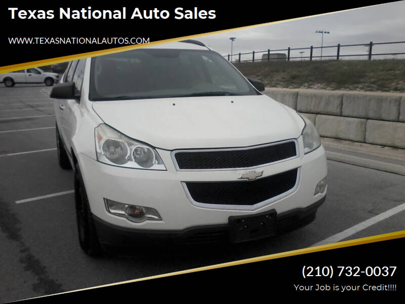2012 Chevrolet Traverse for sale at Texas National Auto Sales in San Antonio TX