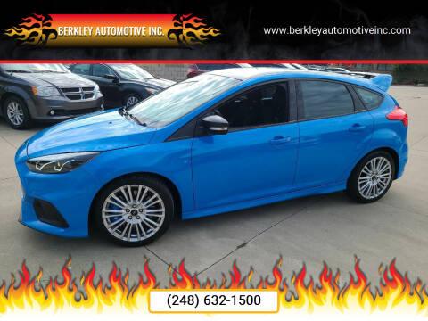 2017 Ford Focus for sale at Berkley Automotive Inc. in Berkley MI