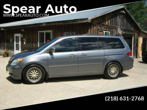 2009 Honda Odyssey for sale at Spear Auto Sales in Wadena MN