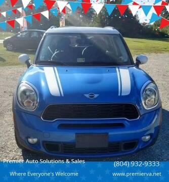 2012 MINI Cooper Countryman for sale at Premier Auto Solutions & Sales in Quinton VA