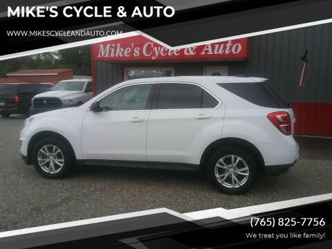 2017 Chevrolet Equinox for sale at MIKE'S CYCLE & AUTO in Connersville IN