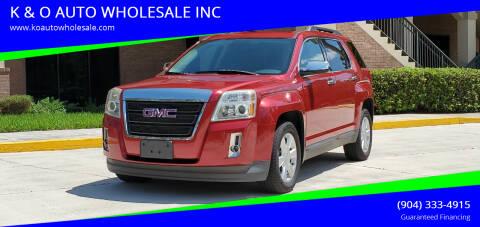2013 GMC Terrain for sale at K & O AUTO WHOLESALE INC in Jacksonville FL