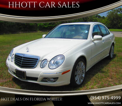 2007 Mercedes-Benz E-Class for sale at HHOTT CAR SALES in Deerfield Beach FL