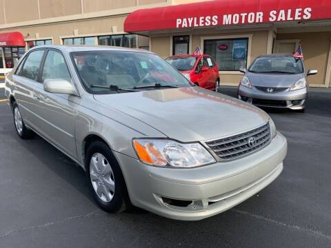2003 Toyota Avalon for sale at Payless Motor Sales LLC in Burlington NC
