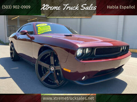 2012 Dodge Challenger for sale at Xtreme Truck Sales in Woodburn OR