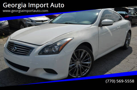 2011 Infiniti G37 Coupe for sale at Georgia Import Auto in Alpharetta GA