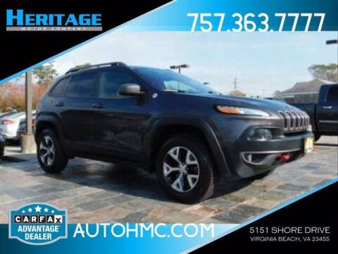 2015 Jeep Cherokee for sale at Heritage Motor Company in Virginia Beach VA