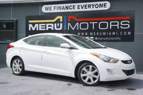 2011 Hyundai Elantra for sale at Meru Motors in Hollywood FL