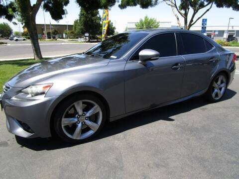 2014 Lexus IS 350 for sale at KM MOTOR CARS in Modesto CA