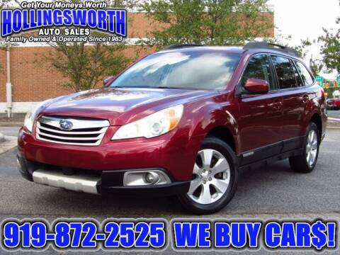 2011 Subaru Outback for sale at Hollingsworth Auto Sales in Raleigh NC