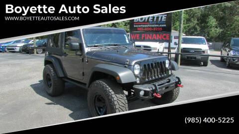 2017 Jeep Wrangler for sale at Auto Group South - Boyette Auto Sales in Covington LA
