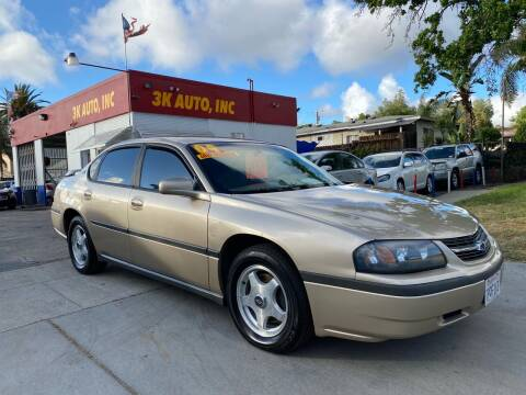 2004 Chevrolet Impala for sale at 3K Auto in Escondido CA