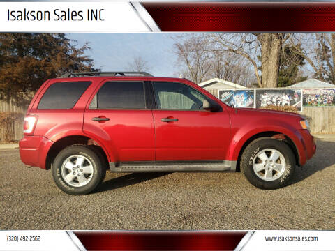 2009 Ford Escape for sale at Isakson Sales INC in Waite Park MN