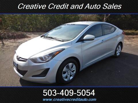 2016 Hyundai Elantra for sale at Creative Credit & Auto Sales in Salem OR