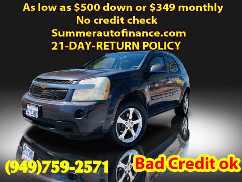 2007 Chevrolet Equinox for sale at SUMMER AUTO FINANCE in Costa Mesa CA