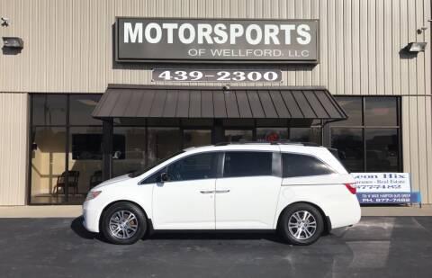 2011 Honda Odyssey for sale at MotorCars LLC in Wellford SC
