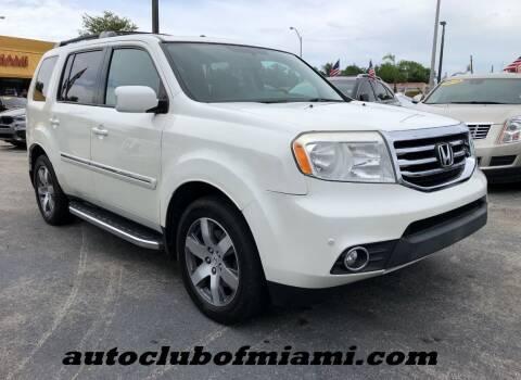 2015 Honda Pilot for sale at AUTO CLUB OF MIAMI in Miami FL