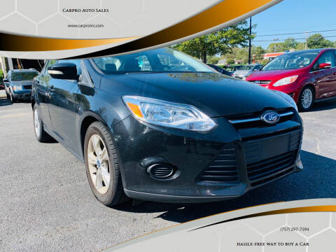 2013 Ford Focus for sale at Carpro Auto Sales in Chesapeake VA