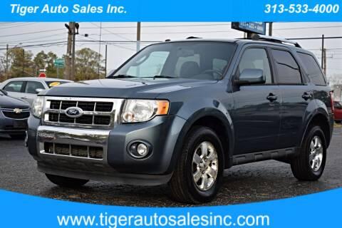 2011 Ford Escape for sale at TIGER AUTO SALES INC in Redford MI