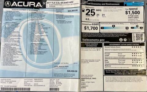 2017 Acura TLX for sale at Car Spot Of Central Florida in Melbourne FL