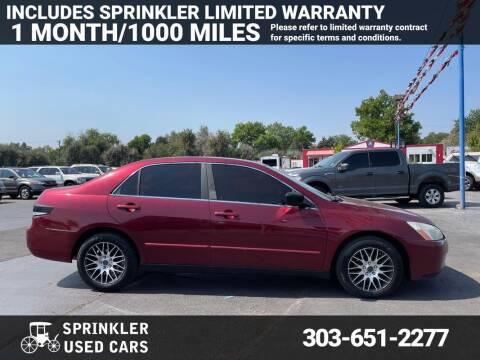 2004 Honda Accord for sale at Sprinkler Used Cars in Longmont CO