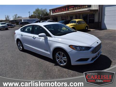 2018 Ford Fusion Hybrid for sale at Carlisle Motors in Lubbock TX