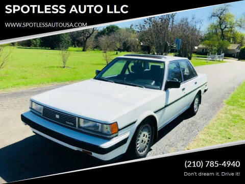1986 Toyota Cressida for sale at SPOTLESS AUTO LLC in San Antonio TX