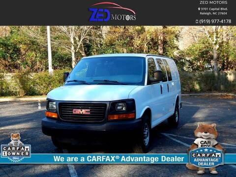 2012 GMC Savana Cargo for sale at Zed Motors in Raleigh NC