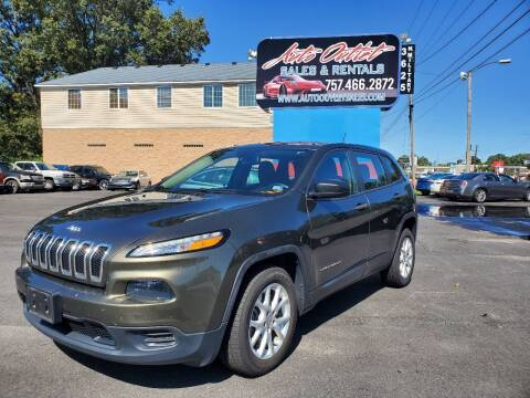2015 Jeep Cherokee for sale at Auto Outlet Sales and Rentals in Norfolk VA