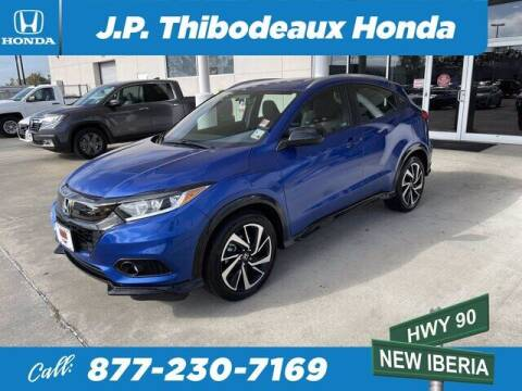 2019 Honda HR-V for sale at J P Thibodeaux Used Cars in New Iberia LA