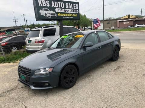 2009 Audi A4 for sale at KBS Auto Sales in Cincinnati OH