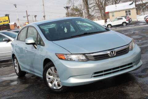 2012 Honda Civic for sale at Dynamics Auto Sale in Highland IN