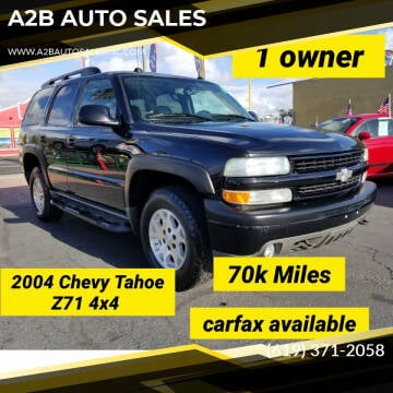 2004 Chevrolet Tahoe for sale at A2B AUTO SALES in Chula Vista CA