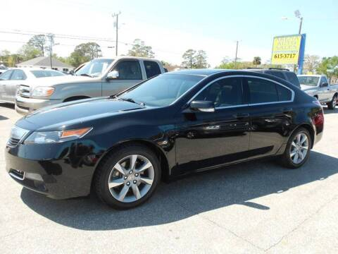 2012 Acura TL for sale at ARENA AUTO SALES,  INC. in Holly Hill FL