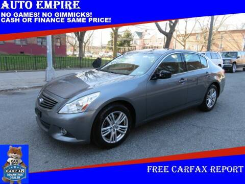 2012 Infiniti G37 Sedan for sale at Auto Empire in Brooklyn NY