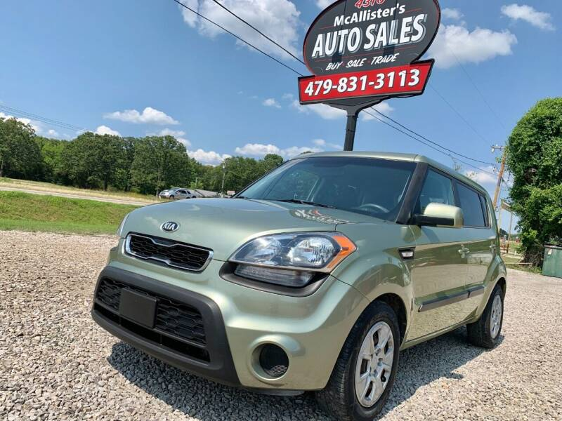 2012 Kia Soul for sale at McAllister's Auto Sales LLC in Van Buren AR