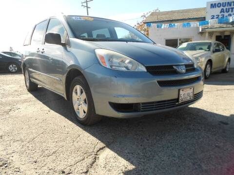 2004 Toyota Sienna for sale at Mountain Auto in Jackson CA