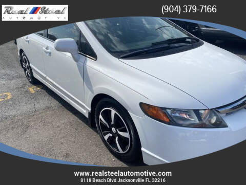 2007 Honda Civic for sale at Real Steel Automotive in Jacksonville FL