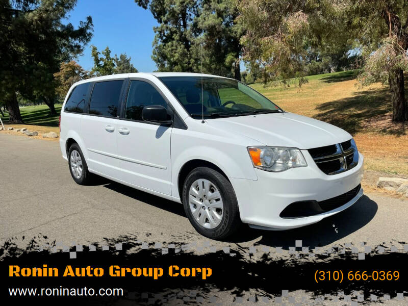 2014 Dodge Grand Caravan for sale at Ronin Auto Group Corp in Sun Valley CA