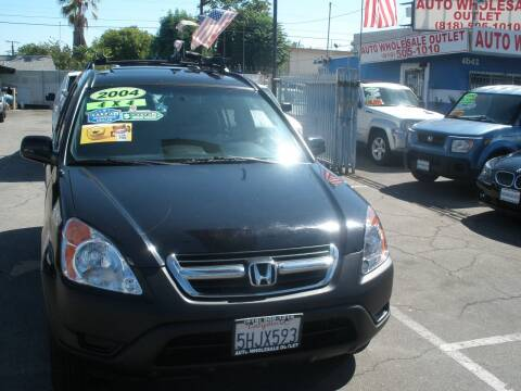 2004 Honda CR-V for sale at AUTO WHOLESALE OUTLET in North Hollywood CA