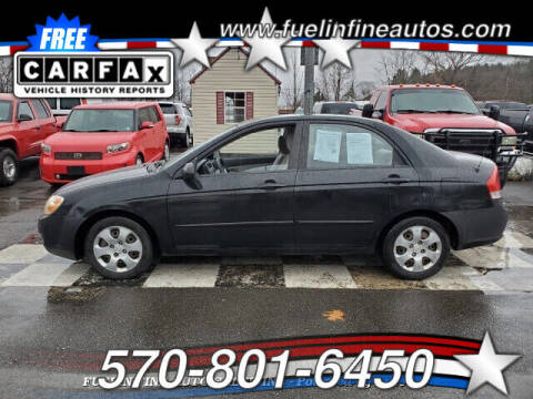 2007 Kia Spectra for sale at FUELIN FINE AUTO SALES INC in Saylorsburg PA