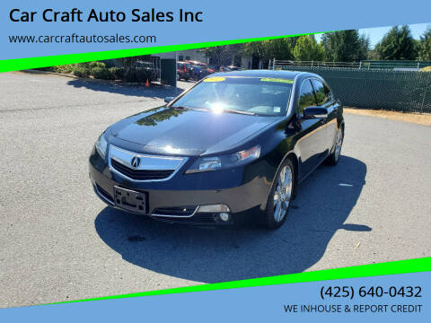 2012 Acura TL for sale at Car Craft Auto Sales Inc in Lynnwood WA