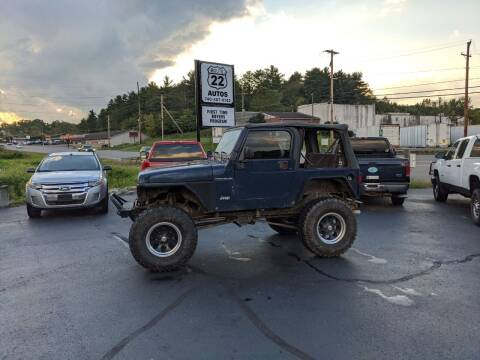 2001 Jeep Wrangler for sale at Route 22 Autos in Zanesville OH