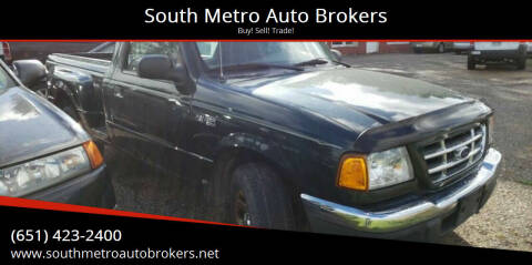 2002 Ford Ranger for sale at South Metro Auto Brokers in Rosemount MN