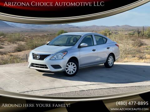 2016 Nissan Versa for sale at Arizona Choice Automotive LLC in Mesa AZ
