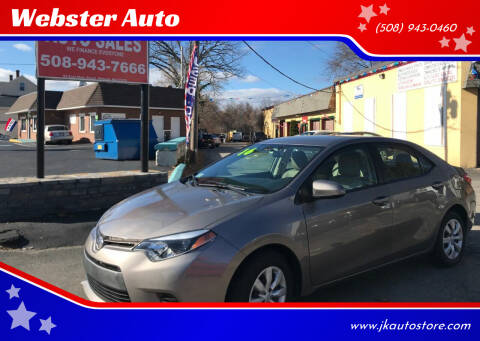 2016 Toyota Corolla for sale at Webster Auto Sales in Webster MA