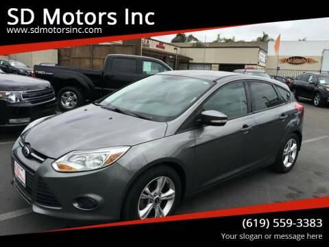2013 Ford Focus for sale at SD Motors Inc in La Mesa CA