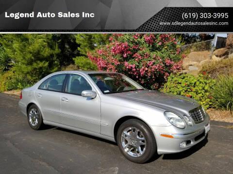 2003 Mercedes-Benz E-Class for sale at Legend Auto Sales Inc in Lemon Grove CA