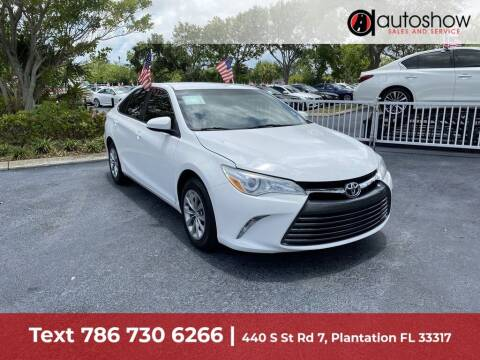 2015 Toyota Camry for sale at AUTOSHOW SALES & SERVICE in Plantation FL