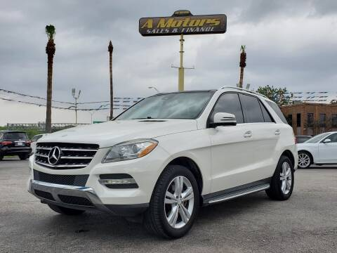 2013 Mercedes-Benz M-Class for sale at A MOTORS SALES AND FINANCE - 5630 San Pedro Ave in San Antonio TX